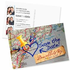 Map-It-Out Save the Date, Maine