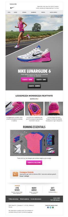 #newsletter Nike 07.2014 È arrivata la nuova Nike LunarGlide 6