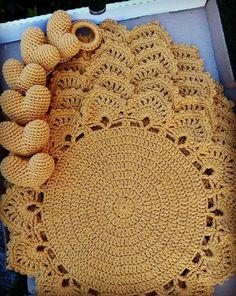 Pattern crochet coasters, Coffee Time Doily, Tea time Crochet Doilies, crochet rug pattern, hygge home decor (tutorial PDF file) Crochet Placemat Patterns, Doily Patterns, Baby Knitting Patterns, Crochet Home, Diy Crochet, Crochet Doilies, Crochet Mandala, Filet Crochet, Crochet Stitches