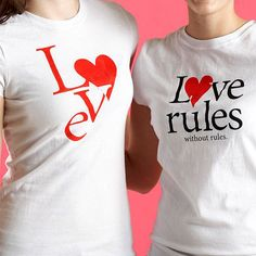 Love Quote T-Shirts...Iron-on T-shirt transfers are the perfect gift to exchange between friends. Get our patterns, below, and print onto iron-on transfer paper, following the manufacturer's instructions.
