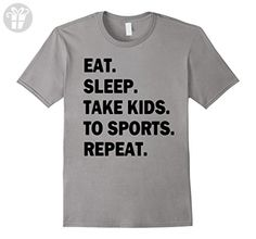 Men's eat sleep take kids to sports repeat t-shirt XL Slate (*Amazon Partner-Link)