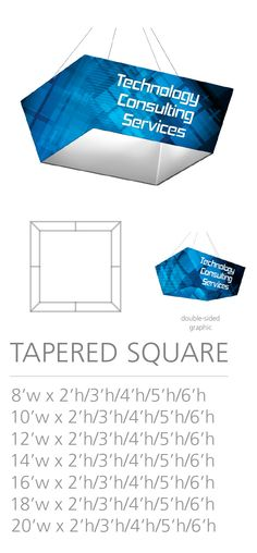 3D HANGING STRUCTURE - TAPERED SQUARE #Trade#show #Displays #Hanging #Structure. Call us today for a quote. 1-866-7ULTIMA (1-866-785-8462) Trade Show, Quote, Messages, 3d, Quotation, Qoutes, Text Conversations, True Words