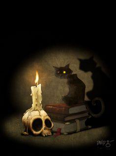 The Black Cat - ilustración promocional para iPoe Collection - La colección ilustrada e interactiva de Edgar Allan Poe.