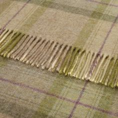 British Wool Skye Sage Check Throw 140x185cms Checked Throws By Colour Sofa