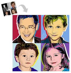 Personal Family Photo Andy Warhol pop art