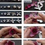 Infographic cómo hacer flores con hueveras de cartón