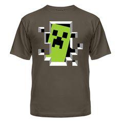 Мужская футболка Crash Minecraft Магазин футболок