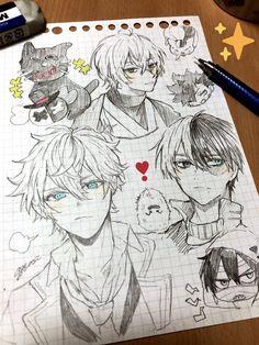 Anime Drawings Sketches, Anime Sketch, Kawaii Drawings, Cute Drawings, Manga Anime, Anime Chibi, Anime Art, Manga Drawing Tutorials, Estilo Anime