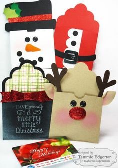 Ideas for your Paper Crafts - Outdoor Click Christmas Gift Card Holders, Christmas Tag, Xmas Cards, Christmas Tables, Nordic Christmas, Modern Christmas, Handmade Christmas, Christmas Stockings, Christmas Ideas