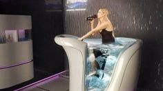 Fancy - The FitWet Jet Bike combines an exercise bike and a hot tub
