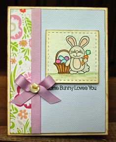 Easter card ... cute image ... great layout with many possibilities for a small stamp ...