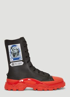 676b654a5cb ADIDAS BY RAF SIMONS Detroit Boot Sneakers in Black.  adidasbyrafsimons   shoes
