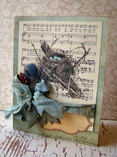 Bird Nest card - Scrapbook.com