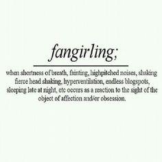 Definition of Fangirling - Fangirl - Geek