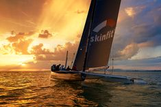 Skinfit sailing in to the sunset on lake Constance . Corporate, Outdoor Portraits, Zurich, Nikon, Sailing, Sunset, Sports, Travel, Sunsets