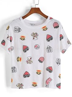 camiseta Paul Frank-blanco 8.54