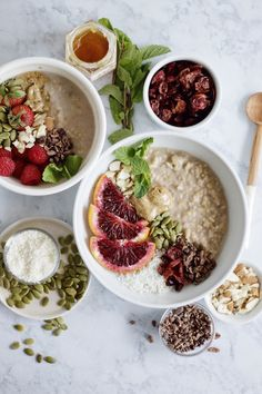 brown rice breakfast bowls with all of your favorite toppings