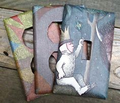 Where the Wild Things Are Upcycled/Recycled Switch Plate Set (3). $20.00, via Etsy.