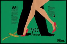 Tango lessons poster by Alena Sedyakina, via Behance