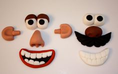 POTATO MAN PARTS - Fondant Cupcake Toppers