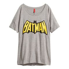 Women's batman printing round neck half sleeve T-shirt (12 AUD) ❤ liked on Polyvore featuring tops, t-shirts, shirts, batman, elbow length sleeve tops, half sleeve top, round neck top, elbow sleeve shirt and tee-shirt