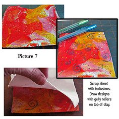 Tutorial Sandwiching inclusions between clay sheets by Dianne Cook
