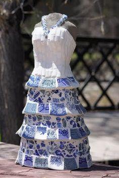 mosaic dress form - Shelly Hamill