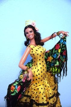 Vintage Spanish Dancer Doll