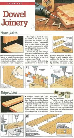 Dowel Joinery - Joinery Tips, Jigs and Techniques | WoodArchivist.com