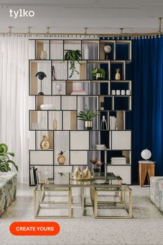 Specify the size and colour, then choose doors or drawers (or both!) to make wall shelves that suit your space and needs perfectly. Stylish Living Room, Interior, Furniture Project Plans, Home, Wall Storage, Furniture Plans, Room Inspiration, Aesthetic Rooms, Living Room Inspiration
