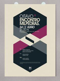 "Milpedras ""VIII Encontro"" Poster Event A Coruña / 2012"