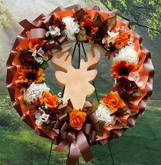 Camoflauge Deer Cemetery Wreath Green and Brown Cemetery Grave Flowers, Cemetery Flowers, Funeral Flowers, Funeral Arrangements, Flower Arrangements, Cemetery Decorations, Green And Brown, Deer, Wreaths