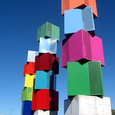 """Urban Forest"", no Meridian Energy Wind Sculpture Walk, em Wellington, Nova…"