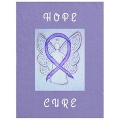 Testicular Cancer uses the Orchid Awareness Ribbon.  Awareness Ribbon Hope Angel Chemo Blanket