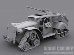 Scout Car WIP Model by MikeDoscher on deviantART