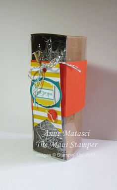 Stampin' Up! Maui Stamper Tag a Bag Gift Box