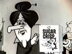 Vintage 1960s Cereal Commercial | Post Super Sugar Crisp Sugar Bear