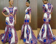 Dashiki Set/ Prom Dress/ Dashiki Dress/ African Prom Dress/ Ankara Dress/ African Dress/ African Styles by AdinkraExpo on Etsy African Prom Dresses, African Dress, African Clothes, African Inspired Fashion, African Print Fashion, African Prints, Dashiki Dress, Ankara Dress, Style Inspiration