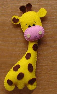 Felt Giraffe Automatic Download PDF File by VintageEtsian on Etsy, $4.50