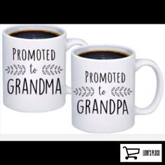 Makes a great gift for all the grandparents out there! Coffee Mug Crafts, Coffee Mug Quotes, Cat Coffee Mug, Best Coffee Mugs, White Coffee Mugs, Coffee Mug Sets, Coffee Humor, Quotes On Mugs, Beer Quotes