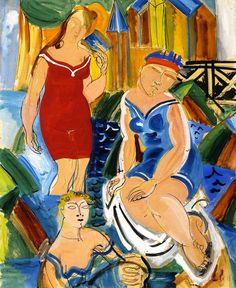 Three Bathers-Raoul Dufy - circa 1918-1920