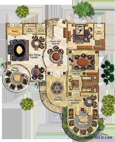 تصميم و مخطط فيلا نموذج مميز من لنك للاستشارات » arab arch