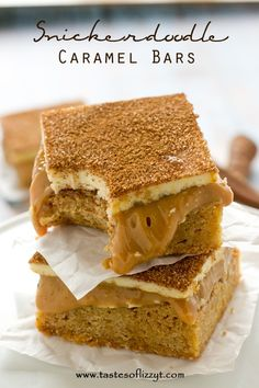 Snickerdoodle Caramel Bars (from scratch)