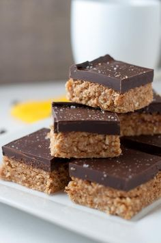 Grain-free, no-bake Chocolate Peanut Butter bars from Flavour and Savour