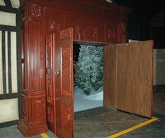 Narnia wardrobe as the entrance to a wedding reception room. I love this idea!!