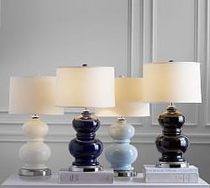 Table Lamps | Pottery Barn -- Option in white for Ashley's room or possibly in Black for the sitting room.