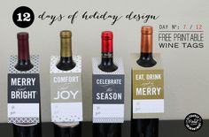 12 Days of Holiday Design: Day 7 - Wine Tags | Elegance & Enchantment