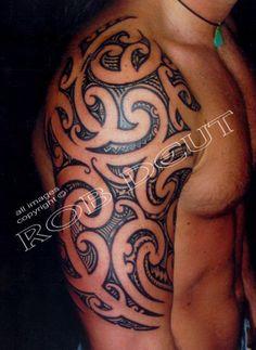 Maori shoulder tattoo
