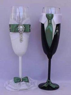 Ποτήρια Σαμπάνιας Γάμου Δαντέλα 44.00€ Flute, Champagne, Tableware, Wedding, Bottles, Valentines Day Weddings, Dinnerware, Tablewares, Flutes
