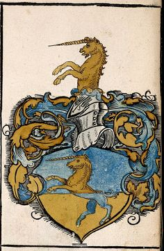 Unicorn. detail.. From Nuremberg family coat of arms. 1555 Germany. Lib of Con. | Flickr - Photo Sharing!